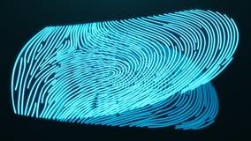 la exploración de la huella dactilar del ejemplo 3D provee del acceso de la seguridad la identificación de la biométrica Protecci ilustración del vector