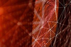 la exploraci?n de la huella dactilar del ejemplo 3D provee del acceso de la seguridad la identificaci?n de la biom?trica El corta ilustración del vector