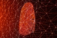 la exploraci?n de la huella dactilar del ejemplo 3D provee del acceso de la seguridad la identificaci?n de la biom?trica El corta libre illustration
