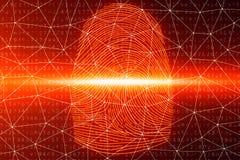 la exploraci?n de la huella dactilar del ejemplo 3D provee del acceso de la seguridad la identificaci?n de la biom?trica El corta stock de ilustración