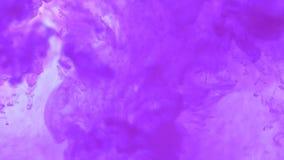 La explosión de la acuarela en agua Fondo abstracto de la acuarela metrajes