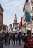 La expo señala San Marino por medio de una bandera Fotografía de archivo libre de regalías
