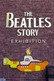 La exposición de la historia de Beatles Imágenes de archivo libres de regalías
