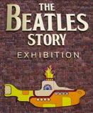 La exposición de la historia de Beatles Imagen de archivo