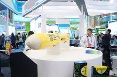 La exposición del modelo de cohete, en la feria de alta tecnología internacional de China Foto de archivo