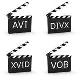 La extensión video clasifía 01 - parte de una serie Fotos de archivo