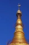 La extremidad de Botatauang sagrado Paya en Rangún imagen de archivo libre de regalías