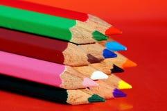 La extremidad de los lápices del color Fotos de archivo libres de regalías