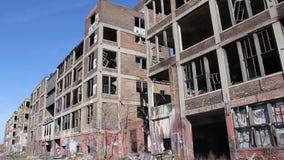La fábrica de Detroit arruina 6 almacen de metraje de vídeo