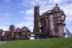 la fábrica de gas vieja Fotografía de archivo libre de regalías