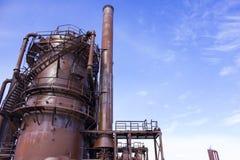 la fábrica de gas vieja Fotografía de archivo
