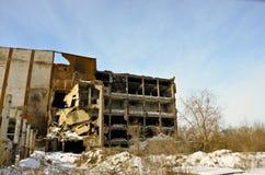 La fábrica destruida 4 Imagen de archivo libre de regalías
