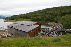 La fábrica vieja de la pesca Fotografía de archivo