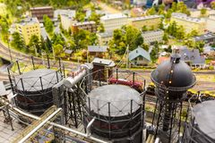 La fábrica vieja en el museo de la Magnífico-mofa es la ciudad de St Petersburg Foto de archivo