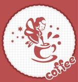 La fée avec une tasse de café Photo stock