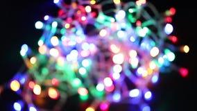 La fée colorée a mené le bokeh de lumières à l'arrière-plan banque de vidéos