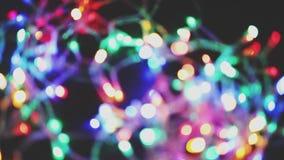 La fée colorée a mené le bokeh de lumières à l'arrière-plan clips vidéos