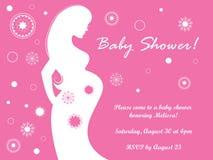 La fête de naissance enceinte invitent Image stock