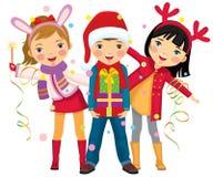 La fête de Noël des enfants une surprise Image stock