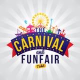 La fête foraine de carnaval illustration de vecteur