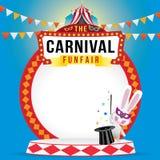 La fête foraine et le spectacle de magie de carnaval Photo libre de droits