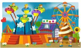 La fête foraine - terrain de jeu pour des enfants Photo stock