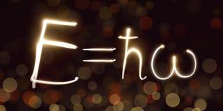 La física, constante de Planck, freezelight, bokeh, mecánica cuántica, energía de un fotón Fotos de archivo libres de regalías