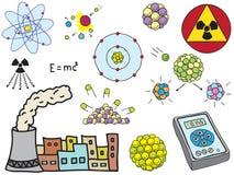 La física - energía nuclear atómica Imagen de archivo