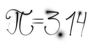 La física, freezelight, bokeh, pi, 3 14, geometría, matemáticas, ciencia Imagenes de archivo