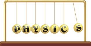 La física - horquilla del `s del neutonio ilustración del vector