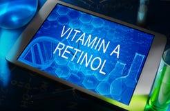 La fórmula química de la vitamina A (retinol) Fotos de archivo