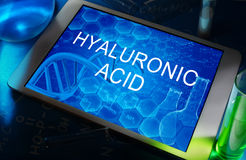 La fórmula química del ácido hialurónico Fotografía de archivo libre de regalías