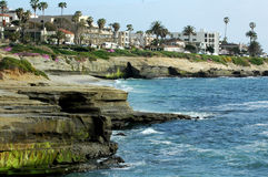 la för Kalifornien kustlinjejolla Arkivfoto