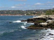 la för Kalifornien kustlinjejolla Arkivbild