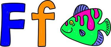 La F è per i pesci royalty illustrazione gratis