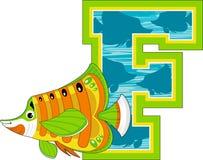 La F è per il pesce Immagine Stock Libera da Diritti