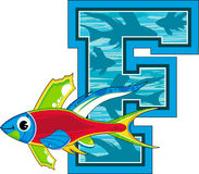 La F è per il pesce Fotografie Stock Libere da Diritti