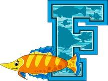 La F è per il pesce Fotografia Stock Libera da Diritti