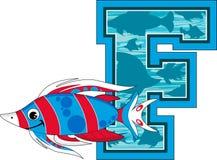 La F è per il pesce Fotografie Stock