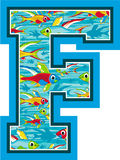 La F è per il pesce Immagini Stock Libere da Diritti