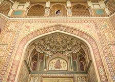 La façade d'Amber Fort à Jaipur, Inde Images libres de droits