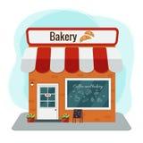 La façade d'une boutique de boulangerie Illustration Libre de Droits