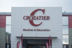 La façade de la chaîne célèbre des meubles intérieurs fournit Crozatier Photographie stock