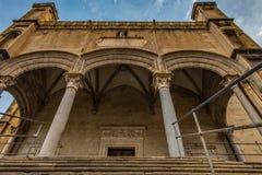 La façade de l'église à Palerme, Sicile image stock