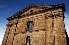 La façade de l'église Image stock