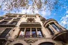 La façade de la maison Battlo de maison à Barcelone Photos libres de droits