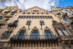 La façade de la maison Battlo de maison à Barcelone Photographie stock