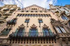 La façade de la maison Battlo de maison à Barcelone Image libre de droits