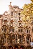 La façade de la maison Battlo de maison Photo libre de droits