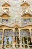 La façade de la maison Battlo de maison Images libres de droits